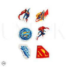 6 Piece Superman Erasers - Kids Party Favors Bag Fillers Stationary Gift