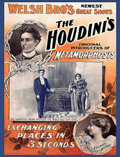 Harry Houdini images from Old Posters/ on Custom Tee shirts Metamorphosis