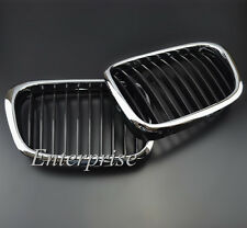 For 97-03 BMW E39 5-series 525 530 535 540 M5 Front Chrome Black Grille Grill
