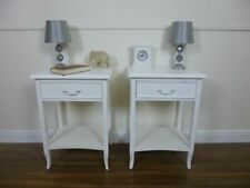Shabby Chic Style Bedside Cabinets in White - Handmade