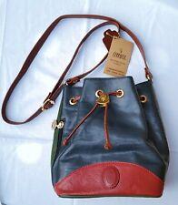 Cerrucci Leather Bucket Bag Drawstring Hobo Crossbody Bag  NWT