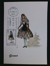 SPAIN MK 1968 COSTUMES GERONA TRACHTEN MAXIMUMKARTE MAXIMUM CARD MC CM c6024