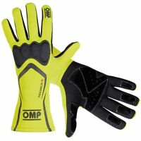 FIA OMP Race Gloves TECNICA-S Racing Rally YELLOW/BLACK XS S M L XL Tecnica S
