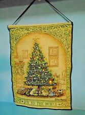 "Dan Morris Tapestry ""JOY TO THE WORLD"" Christmas Tree with Lights"