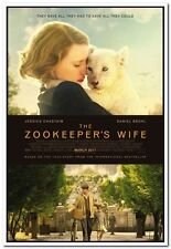 ZOOKEEPER'S WIFE - 2017 - original 27x40 D/S Movie Poster- JESSICA CHASTAIN