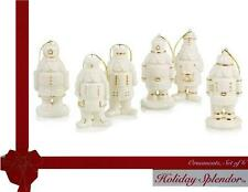 6-pc Mikasa NUTCRACKER PORCELAIN ORNAMENTS 24k Gold HOLIDAY Christmas Soldiers