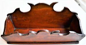 Antique Vintage Mahogany Letter Rack Carved Wood 25 x 8 x 12cm