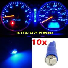 10x Blue T5 Wedge 3-SMD 1206 Instrument Cluster LED Light Bulb 17 37 73 for GMC