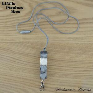 Silicone Beaded Bead Lanyard I.D Badge Cruise Card Holder Keyring Teacher USB