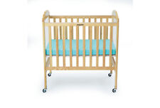 Angeles® Compact Adjustable Three Level Crib w/Clear Panels Durable Wood New