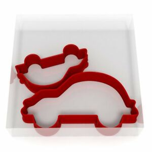 Car Cookie Cutter Set Of 2 Biscuit Dough Icing Shape UK