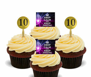 Strictly Come Dancing Edible Cupcake Toppers, Standup Fairy Cake Bun Decorations