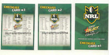 Checklist Team Set NRL & Rugby League Trading Cards