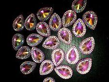sew on stich on purple ab JEWEL Grade A18mm GEM CRYSTAL RHINESTONE trim Bead