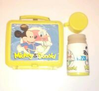 VINTAGE 1970's MICKEY MOUSE AND DONALD DUCK  LUNCH BOX