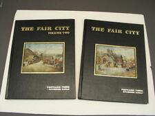 Hutchinson KS THE FAIR CITY POSTCARD VIEWS Vol 1 & Vol 2 Set of Books 388 Views