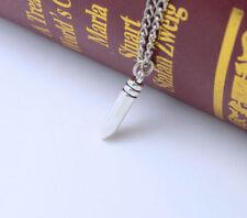 Mens Silver Bullet Pendant Chain Necklace