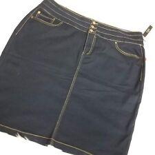 D.Jeans Womens Denim Skirt Plus Sz 22W Modern Fit Blue F2