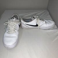 Nike SB CHECK White/Black Leather Shoes Size 7