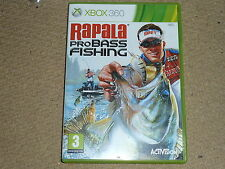RAPALA PRO BASS FISHING Solus for MICROSOFT XBOX 360 Boxed with Game Instruction