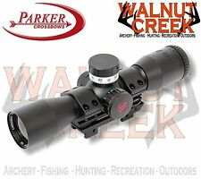 Parker RED HOT Pin Point 3X32 Scope Dial-in Illuminated Crossbow Scope #38-2149