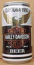 HARLEY-DAVIDSON MOTORCYCLES BEER Can DAYTONA, FLORIDA 1993 Huber, WISCONSIN 1/1+