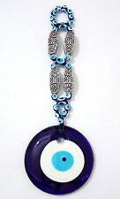 Large Glass Evil Eye Wall Hanging Deco 8x22cm Amulet Charm Good Luck & Success
