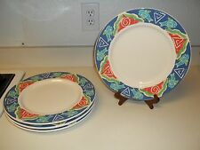 World China ~ Libbey ~ Set of 4 Fish Nautical 12 inch Plates ~ Nice!