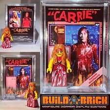 Horror Film CARRIE MINIFIGURE w Display Case Mini Poster Lego type Custom 316f