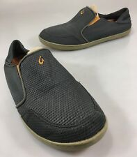 Olakai Mens 10.5 US 43.5EU Gray Nohea Mesh Casual Slip-On Loafers Shoes