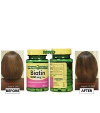 2 Pack Spring Valley Biotin 1000 Mcg 150 Sf Hair/skin/nail Health Exp:09/2022