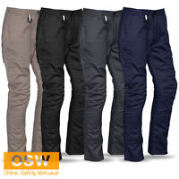 MENS TRADIES FITTED COTTON RIPSTOP MECHANICAL STRETCH VENTED CARGO WORK PANTS