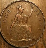 1938 UK GB GREAT BRITAIN ONE PENNY