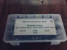 Clamps Oetiker Stepless Ear S.S kit , Soda, Beer, Fuel Lines