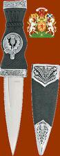 Royal Scotland Scottish Scots Celtic Clan Thistle Dirk Sgian Knife Dagger Blade
