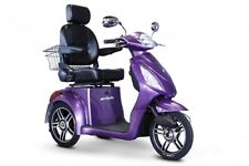 EWheels Purple EW-36 Mobility Scooter, FAST Electric 3 Wheel Cart, 350 lb Cap