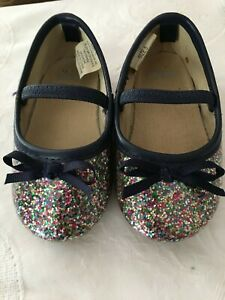 Gymboree Toddler Girls Sparkly Multi-Colored Dressy Slip On Shoes Size 5