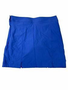 NWT Under Armour Performance Womens Blue Golf Skort Relaxed Fit  Size 14