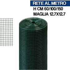 RETE PLASTIFICATA ZINCATA ELETTROSALDATA 12X12 VERDE PER RECINZIONI 13101V