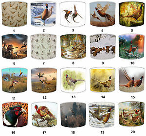 Pheasant Game Bird Lampshades, Ideal Match Hunting Curtains & Drapes