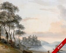 CONWAY CONWY CASTLE WALES PAINTING WELSH BRITISH LANDSCAPE ART REAL CANVAS PRINT