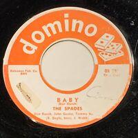 45rpm THE SPADES Baby on Domino 200 Texas doo-wop/rocker Pre-Slades