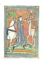 VINTAGE LAMINATED PRAYER BOOK CARD: SAINT EUSTACE bible incense missal liturgy