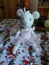 """American Girl Angelina Ballerina Plush Doll Posable 10"""" Mouse in Pink Tutu"""