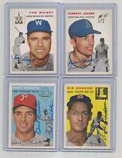 1954-TOPPS ARCHIVES gold SIGNED-tom WRIGHT set CARD #140 senators BASEBALL team