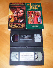 Revelation Movie With John Hagee & Jack Van Impe & The Living Bible VHS Tapes