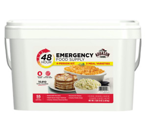 Augason Farms 48-Hour 4-Person Emergency Food Supply Storage Quick Meal Survival