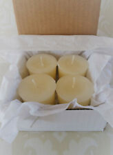 Handmade 100% Beeswax Candles - white votives box