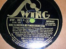 78 trs-rpm-DUKE ELLINGTON - Braggin'in brass -SWING SW 321