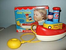 VINTAGE BABY CHILD  TOY 1967 FISHER PRICE TUGGY TOOTER BATH BOX NICE!